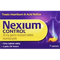 Nexium Control Heartburn and Acid Reflux Relief Tablets, 20mg Gastro-Resistant Esomeprazole Tablets, 7 Count