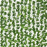 12 ST Strengen Kunstmatige Lvy Leaf Wijnstok Garland Nep Gebladerte Opknoping Planten voor Interieur en exterieur decoratie