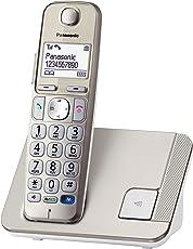 Panasonic KX-TGE210GN DECT Schnurlostelefon, Hörgerätekompatibel, champagner
