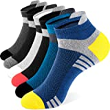 Newdora Running Socks for Men and Women, 6 Pairs Ankle Athletic Trainer Socks Breathable Sports Low Cut Cotton Socks for Casu