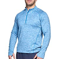 Killer Whale Long Sleeve Top Men Half Zip Tshirt Thermal Dry fit Gym
