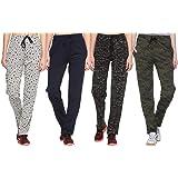 SHAUN Women's Regular Fit Trackpants (Pack of 4) (B07PCS2MYG_Multicolored_Large)