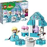 LEGO 10920 DUPLO Princess Elsa's en Olaf's Theefeest Bouwset met Cupcakes en Theepot, Bouwset voor Kleuters van 2 Jaar en Oud