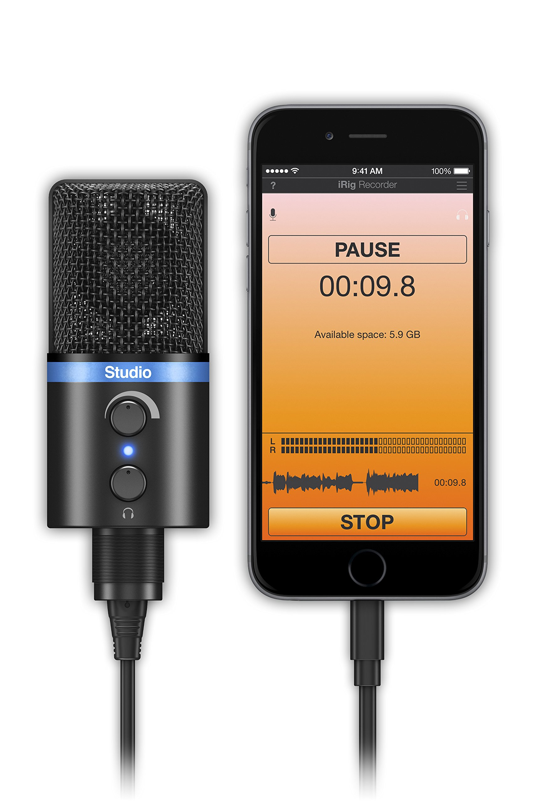 IK Multimedia iRigMicStudio-BK Microphone Noir