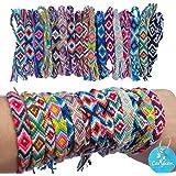 Carykon - Pulseras de la amistad, tejidas, con cierre de nudo deslizante, para mujeres, adolescentes y niñas, el color puede