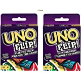 UNO Playing Card Game UNO Flip (Uno, Flip 2 Pack)