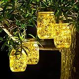 4 Pack Luz Solar Exterior - 30 LED Lamparas Solares de Jardin IP65 Impermeable Luces Solares LED Exterior Jardin Lámparas Sol