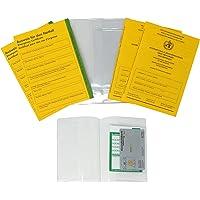 MASCHOTA 6er Set 2X Impfausweis Impfpass 2X Notfallausweis 2 x Impfpasshülle inkl. Kartenfach für Versicherungskarte…