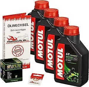 Motul 10w 40 Öl Hiflo Ölfilter Für Kawasaki Zzr 600 90 01 Zx600d Zx600e Ölwechselset Inkl Motoröl Filter Dichtring Auto