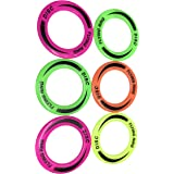 Kids Trends Frisbee Rings for,Return Gifts for Kids Birthday Party,Multicoloured Rings (Pack of 6)