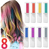 Capelli Gesso Pettine Capelli Temporanea Gesso, Wolady 8 Colore Pettine Instant Hair Chalk Capelli Tintura Temporanea…