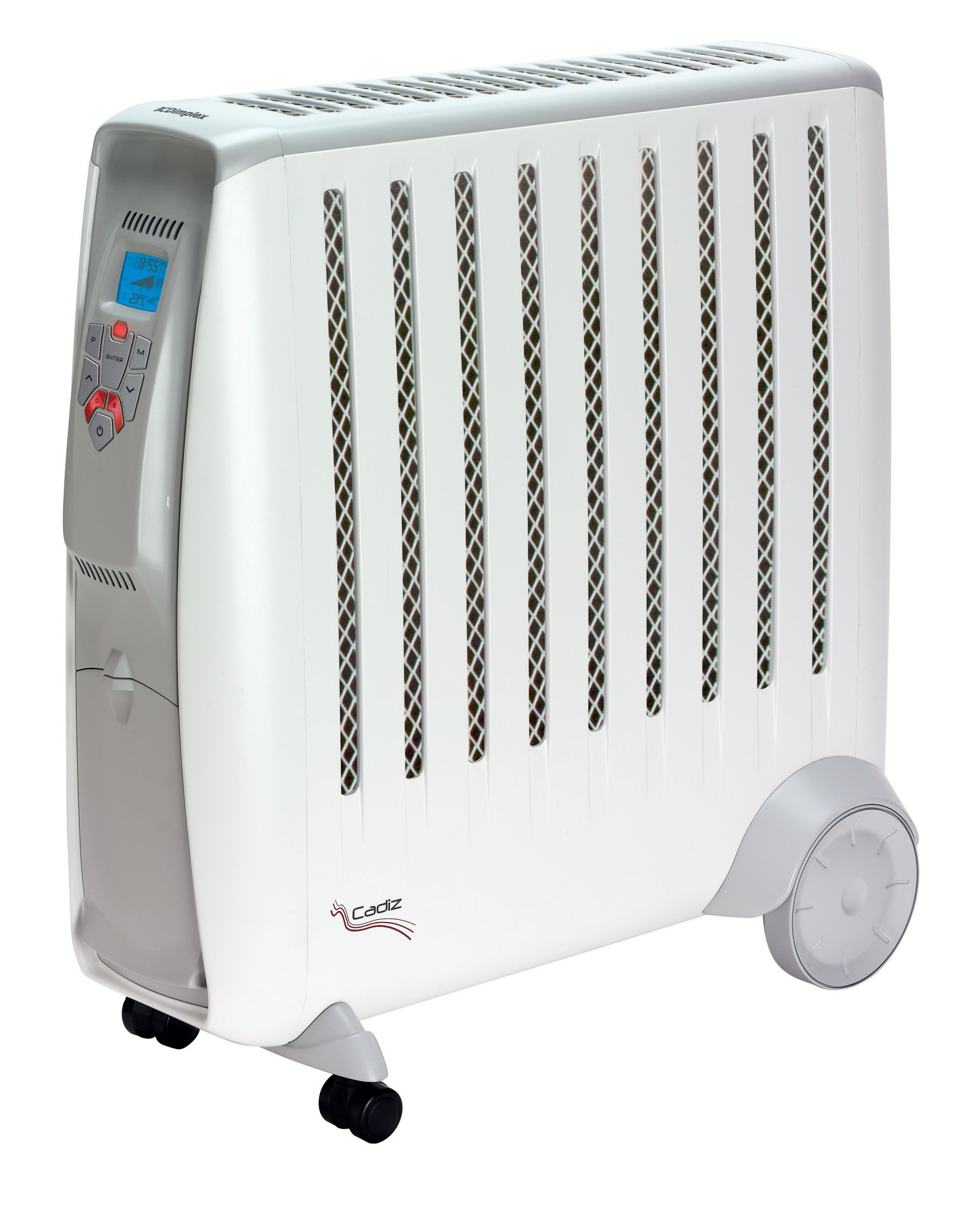 81q37ppXUsL - Dimplex CDE2ECC Cadiz 2kW Portable Oil Free Electric Radiator with 2 Heat Settings Adjustable Thermostat and Climate Control, Plastic, 2000 W, White