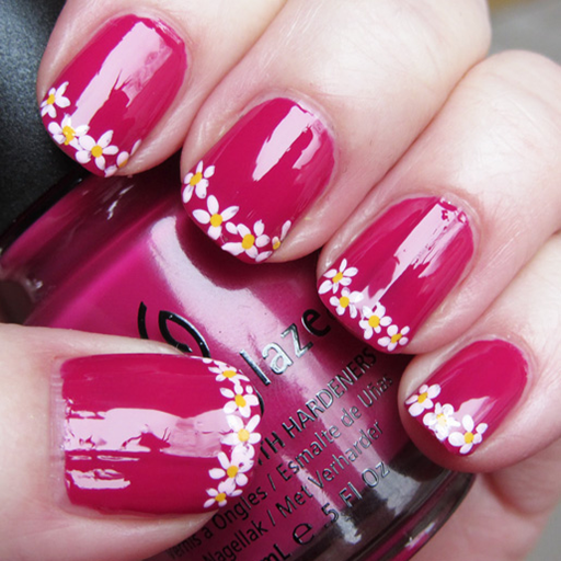 Floral Nail Art Designs For Girls -