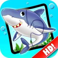 Ozean Puzzlespiele 123 - Wörter-Lernspiel für Kinder