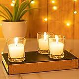Kaameri Bazaar Highly Fragranced Jasmine Filled Glass Candle Set (1.6 Oz, Set of 3)