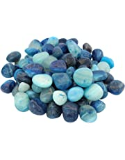 ITOS365 Pebbles Home Decorative Vase Fillers Blue Stone, 1 KG