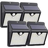 【4 Paquete】Luz Solar Exterior 150 LED, Trswyop Foco Solar Exterior con 120 ° Gran Angular Sensor de Movimiento Lámpara Solar
