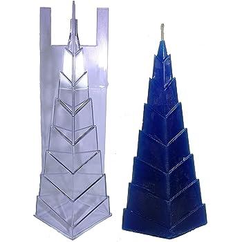 1 St/ück Tanja Schulz Pyramide 60x60mm Kerzengie/ßform KGF-9