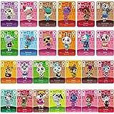 26 pièces Mini Cartes NFC pour Animal Crossing New Horizons Series 1-4 pour Switch/Switch Lite/Wii U/New 3DS avec étui à Cart