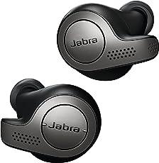 Jabra Elite 65t True Wireless Stereo In-Ear-Kopfhörer (Bluetooth, Musik hören und telefonieren, Sprachsteuerung für Alexa, Siri und Google Assistant) titan schwarz