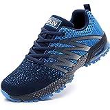 Azooken Herren Damen Sportschuhe Laufschuhe Turnschuhe Sneakers Leichte Fitness Mesh Air Sneaker Straßenlaufschuhe Outdoor 36