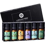 Lagunamoon Aceites Esenciales, Top 6 Set de Regalo de Aceites de Aromaterapia de Lavanda Eucalipto Hierba de Limón Menta Arbó