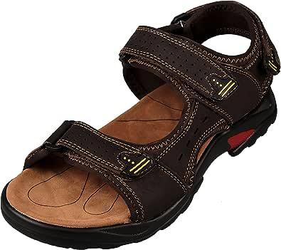 4How Men's Walking Leather Sandals Outdoor Sport Summer Shoes