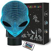3D Alien Night Light Martian ET Projection LED Lampe Alien Illusion Lampe pour Chambre D'enfants Décor À La Maison De…