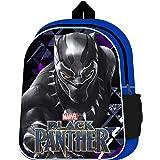 Black Panther Sac à dos avec poche latérale en maille Avengers Movie Cartable Marvel Boys Sac à dos pour enfants 31 x 24,5 cm
