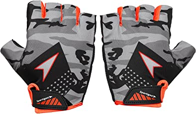 Sportigoo CAMO Cycling Glove - Grey/Orange