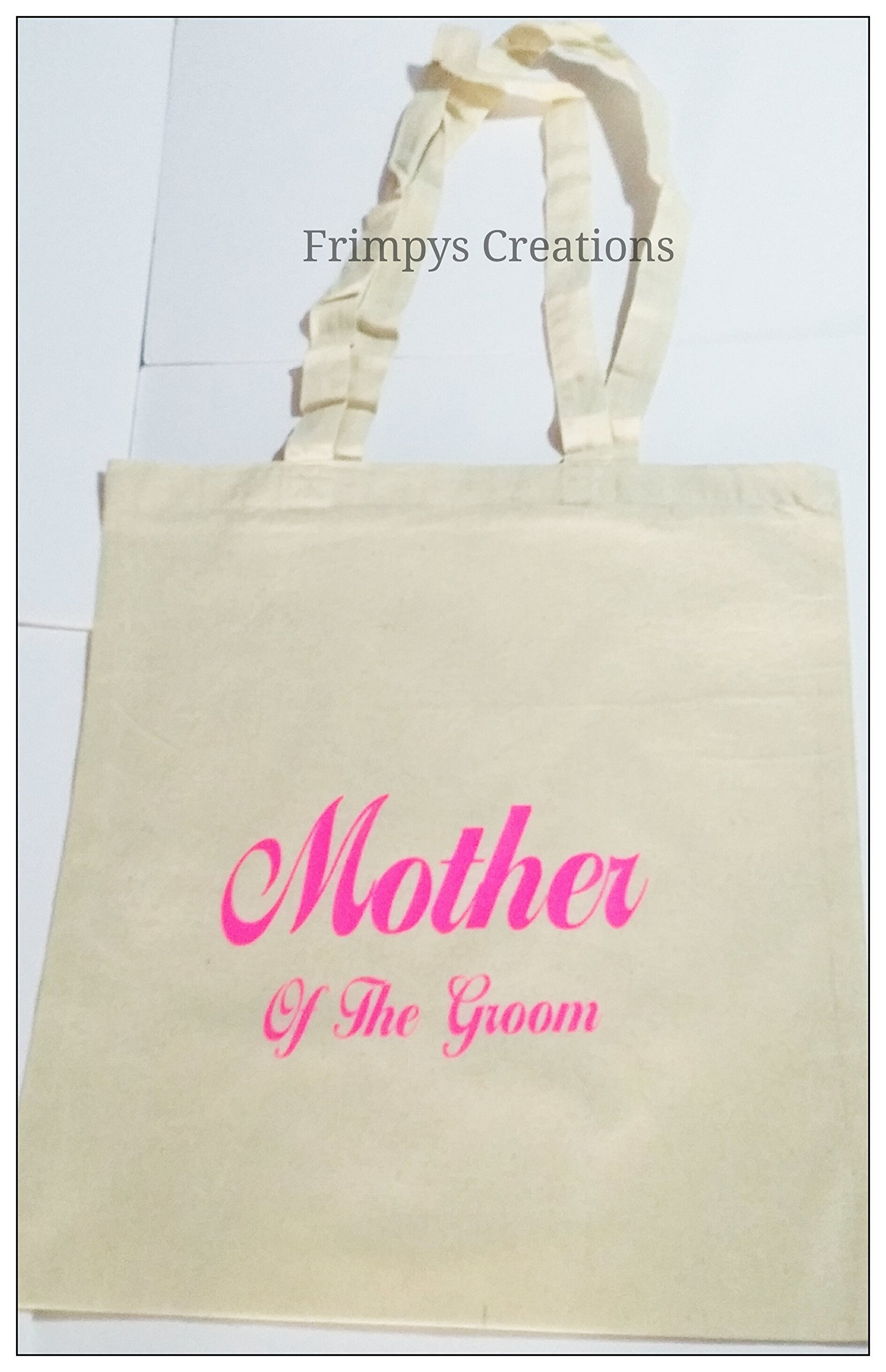 Wedding Favour Tote Bag cotton Printed Gift Present Keep Mother Of The Groom Novelty (BAG) - handmade-bags