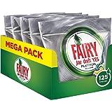 Fairy Platinum 125 Pastiglie per Lavastoviglie Limone, Detersivo Maxi Formato da 125 Caps, 5 Confezioni da 25 caps