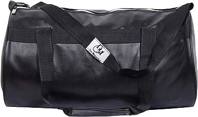 Dee Mannequin 2215 Trendy Leather Gym Bag (Black)