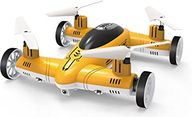 Toyshine Explorer 4 CH Remote Control Flying Car Toy Drone, Assorted Color