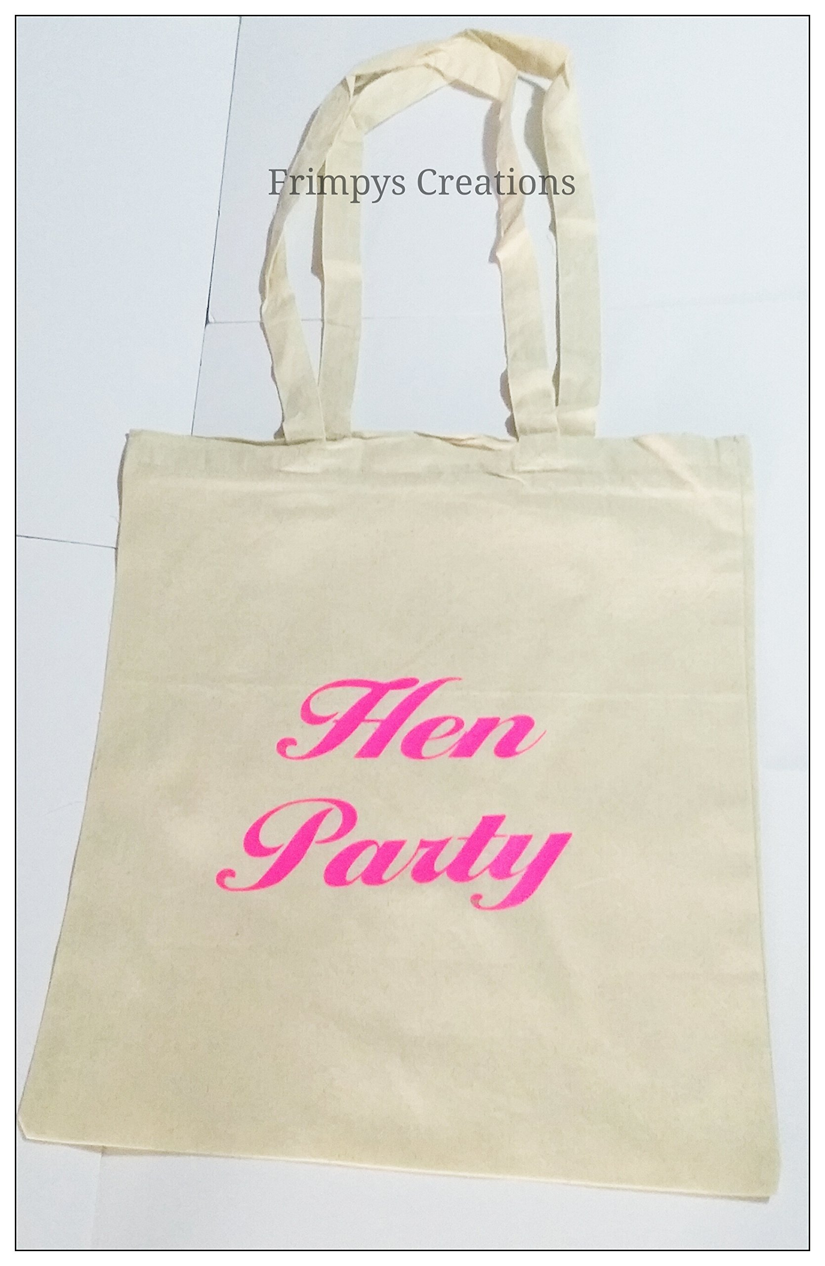 Wedding Favour Tote Bag cotton Printed Gift Present Keep Hen Party Novelty (BAG) - handmade-bags
