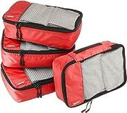 AmazonBasics Kleine Kleidertaschen, 4 Stück, Rot