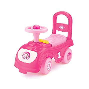 my first ride kids push along car pink