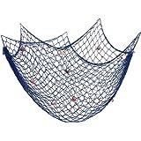 200 cm x 150 cm Filet de pêche avec coquilles Plage Thème Décor pour la Fête Maison Salon Chambre Style Méditerranéen Décor D