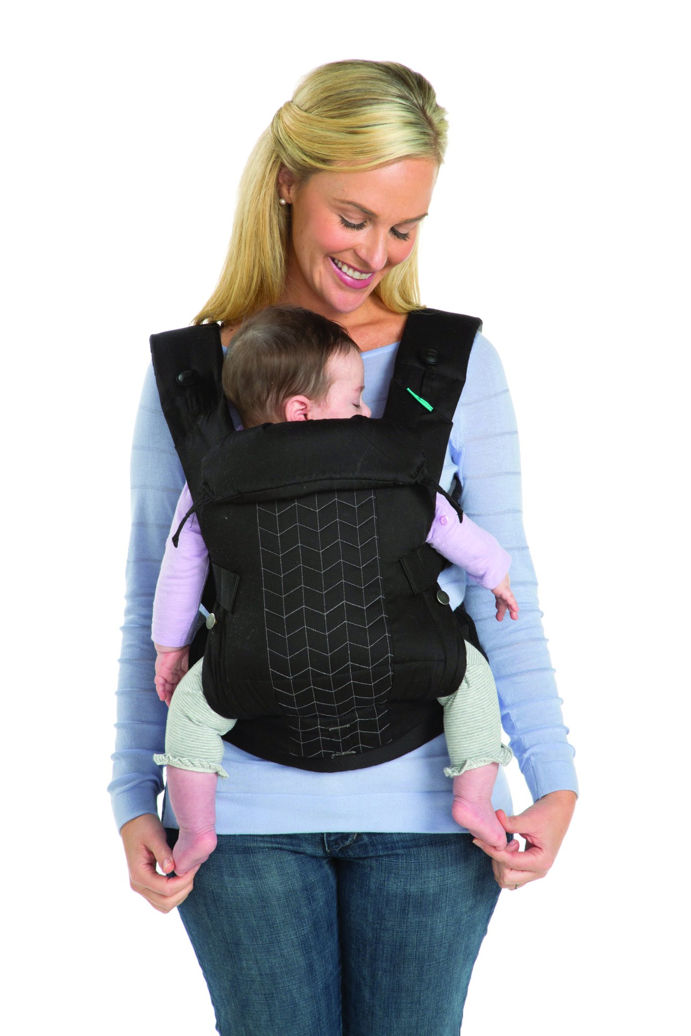 Infantino Upscale Carrier, Black, One Size Infantino Fully safety tested 4 way carrier Facing in newborn & m position 9