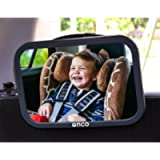 ONCO Baby Car Mirror for Back Seat - 100% Shatterproof Black Baby Car Seat Mirror - Drive Safe and Monitor your Baby…