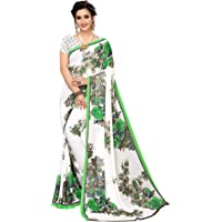 ANNI DESIGNER Georgette Saree with Blouse Piece