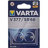 Varta 48011 SR66 (V377) - batteria a bottone ossido d'argento-zinco 1 55 V - Doppio Blister