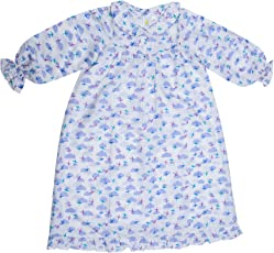 Little Bum Full Sleeves Sleepwear, Night Dress - 100% Cotton (Knitted) - Hand Printed, Hand Made Nightwear for Baby Girl - (1-5 Years)