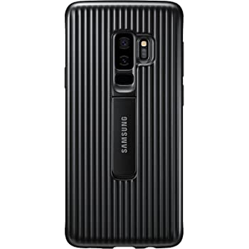 Samsung Protective Cover Case with Flip-Out Stand for Galaxy S9 Plus - Black,EF-RG965CBEGWW