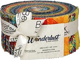 Paula Nadelstern Wonderlust Pinwheel 40 2.5-inch Strips Jelly Roll Benartex
