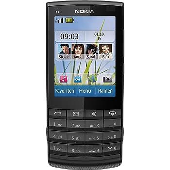 """Nokia X3-02 - Móvil libre (pantalla de 2,4"""" 240 x 320, cámara 5 MP, 50 MB de capacidad) color negro [importado de Alemania]"""