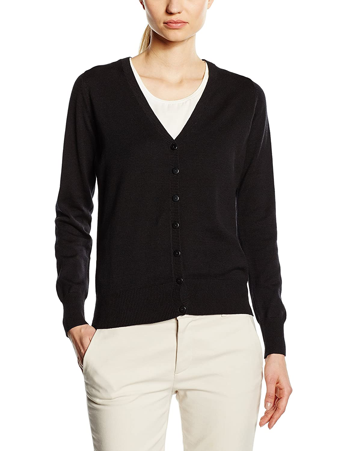 Premier Workwear Ladies Button Through Knitted Cardigan: Amazon.co ...