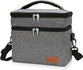 Lifewit Kühltasche Lunch Bag Picknicktasche Lunchtasche Mittagessen Tasche Thermotasche Kühltasche Isoliertasche für Lebensmitteltransport,Farbe: Grau