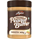 Alpino Coconut Peanut Butter Smooth 400 G | India's 1st Coconut Peanut Butter | Made with Roasted Peanuts & Goodness of Cocon