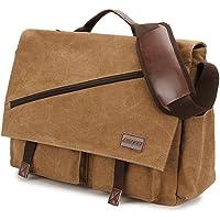 Borse a Tracolla Uomo,Messaggero Sacchetto in Tela Resistente all'acqua da 15.6 Pollici Vintage Crossbody Daybag by…